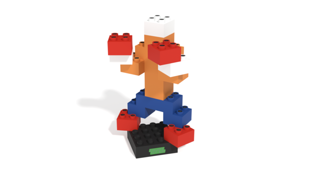 Image for Core 2 building instructions, the second human with Light Stax Illuminated Building Blocks