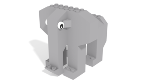 Image Description of STAX Hybrid-Elephant building instructions from STAX Trumpeting Elephant set