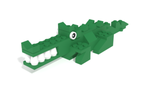 Image Description of STAX Hybrid-Crocodile building instructions from Snapping Crocodile set
