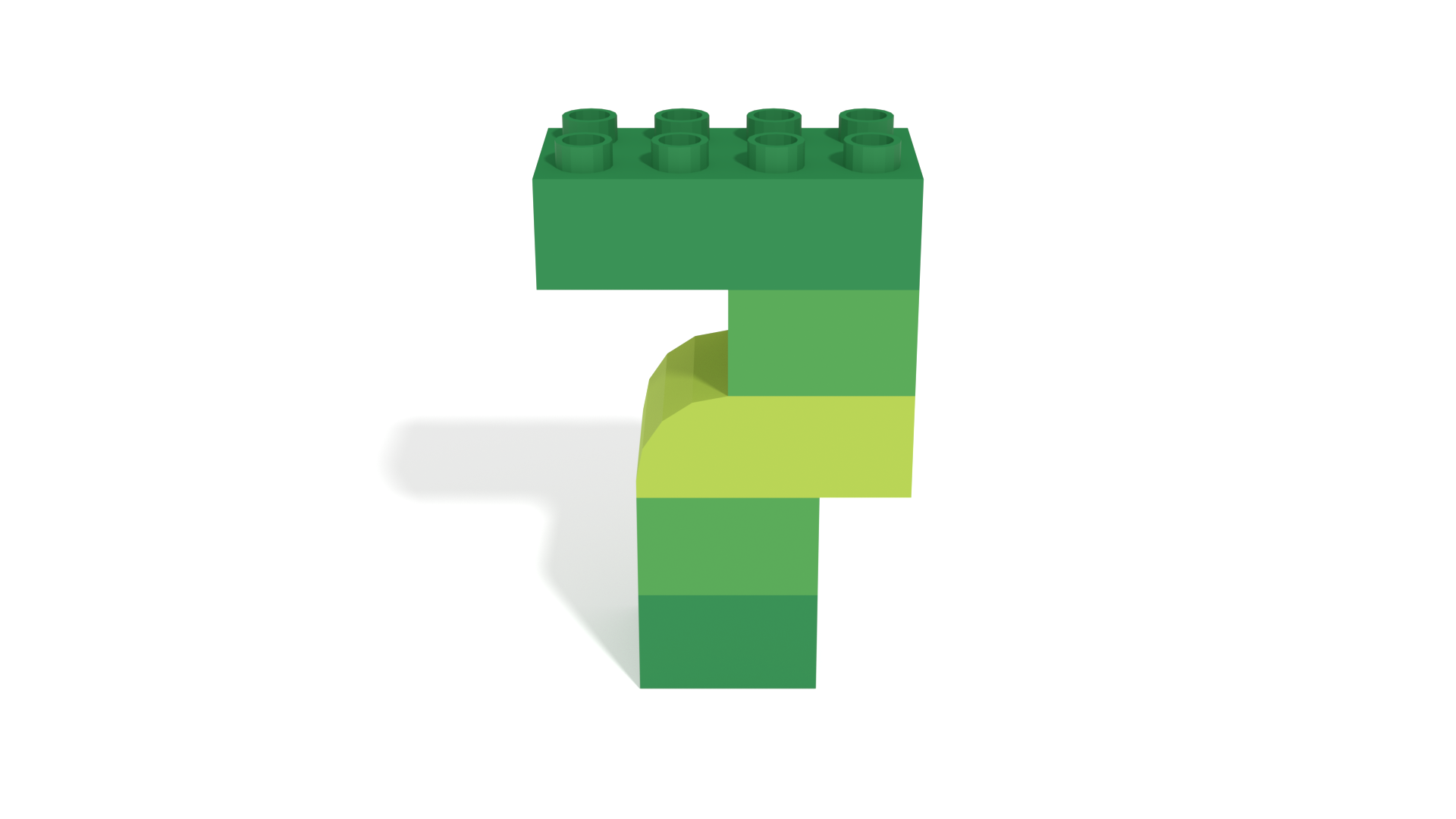 Image for LEGO Duplo Number Seven (7) from 40304 set in 3D building instructions