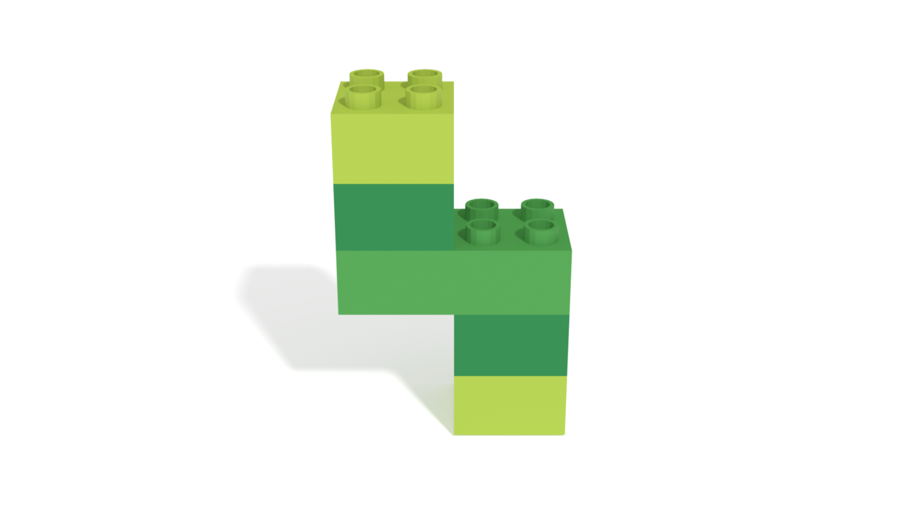 Image for LEGO Duplo Number Four (4) from 40304 set in 3D building instructions