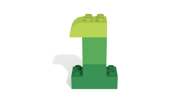 Image for LEGO Duplo Number One (1) from 40304 set in 3D building instructions