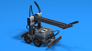 Image Description of Advanced Little Truckie - driving class test robot built with VEX IQ