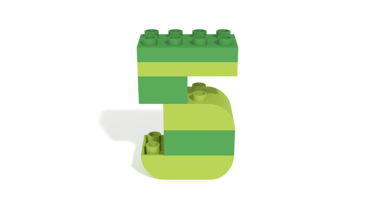 Image for LEGO Duplo Number Five (5) from 40304 set in 3D building instructions