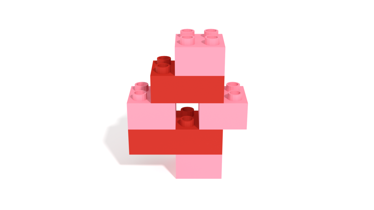 Image for LEGO Duplo Number Four (4) from 10958 set in 3D building instructions