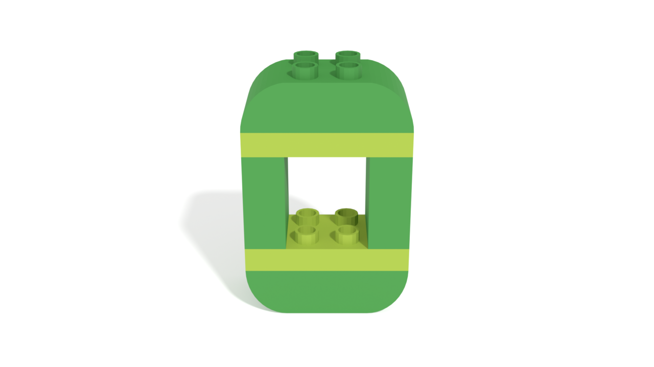 Image for LEGO Duplo Number Zero (0) from 40304 set in 3D building instructions