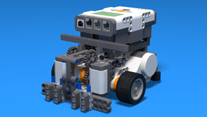 Image Description of Competition Robot from LEGO MIndstorms NXT in 3D instructions