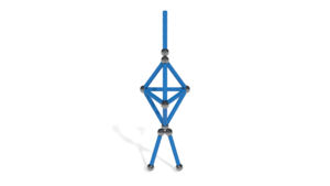 Image Description of Ballerina from Geomag Glitter Classic 68 pcs in 3D assembly instructions