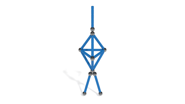 Image of Ballerina from Geomag Glitter Classic 68 pcs in 3D assembly instructions