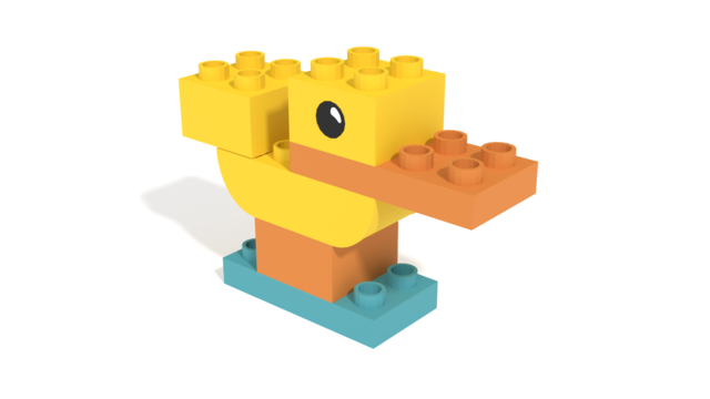 Image for LEGO Duplo My First Duck 2019 from Set 30327 in 3D building instructions