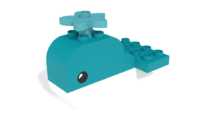 Image Description of LEGO Duplo Whale in 3D building instructions