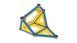 Image Description of Geomag Model 1 in 3D building instructions