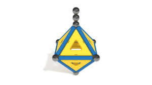 Image Description of Geomag Model 3 in 3D building instructions