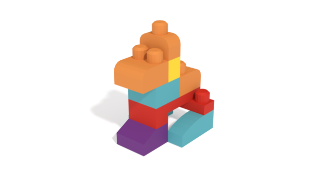 Image of A dog form Mega Bloks