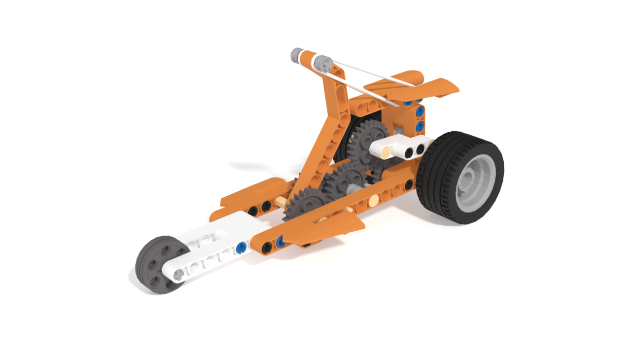 Image for Rubber Band Tricycle built from Apitor
