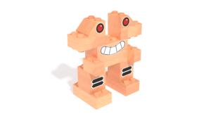 Image Description of Silver, a robot built with FabBRIX Robots set in 3D building instructions