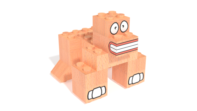 Image of FabBRIX JUNGLE LIFE - Gorilla in 3D building instructions