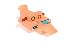 Image Description of FabBRIX Transportation - Plane in 3D building instructions