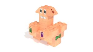 Image Description of Otis, a robot built with FabBRIX Robots set in 3D building instructions