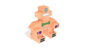 Image Description of Robert, a robot built with FabBRIX Robots set in 3D building instructions