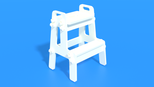Image for Mini Ladder SOLIDWORKS Pack and Go Format