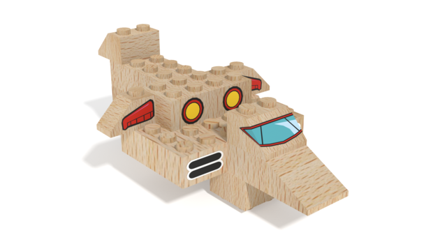 Image for FabBRIX Transportation - Plane in 3D building instructions