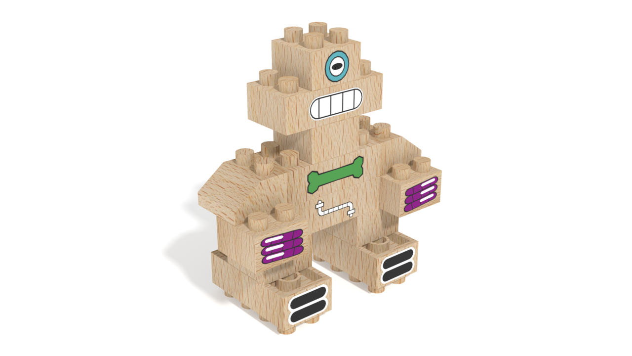 Image for Robert, a robot built with FabBRIX Robots set in 3D building instructions