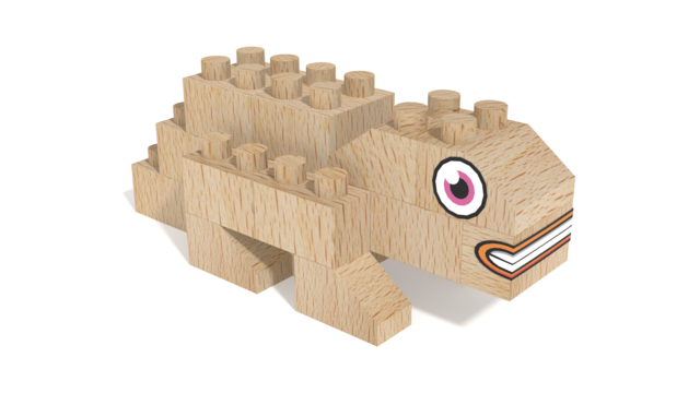 Image for FabBRIX Dino Park, Tortuous in 3D building instructions