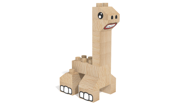 Image for FabBRIX Dino Park, Zauropod-like dino in 3D building instructions