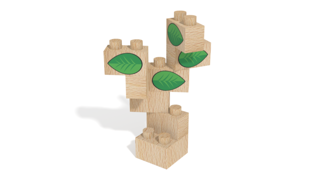 Image for FabBRIX Dino Park, Tree in 3D building instructions