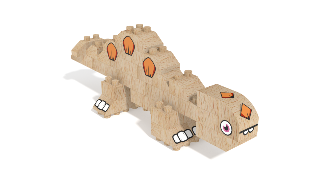 Image for FabBRIX Dinosaurs, Stegosaurus in 3D building instructions