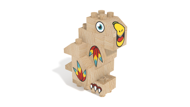Image for FabBRIX Birds, Parrot in 3D building instructions
