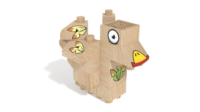 Image for FabBRIX Birds, Bird 3 in 3D building instructions