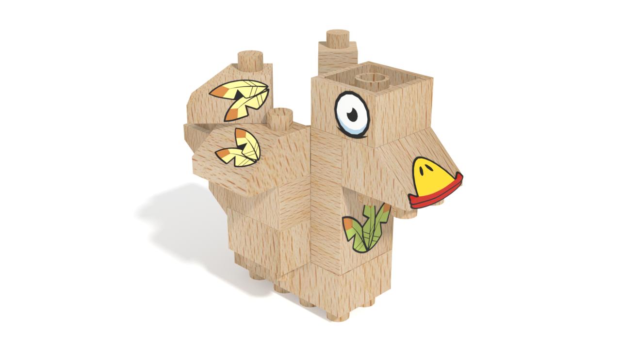 Image for FabBRIX Birds, Bird 3 in 3D building instructions
