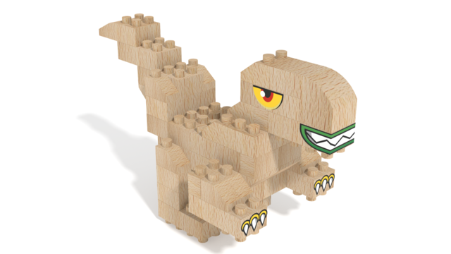 Image for FabBRIX Dino Park, T-Rex in 3D building instructions