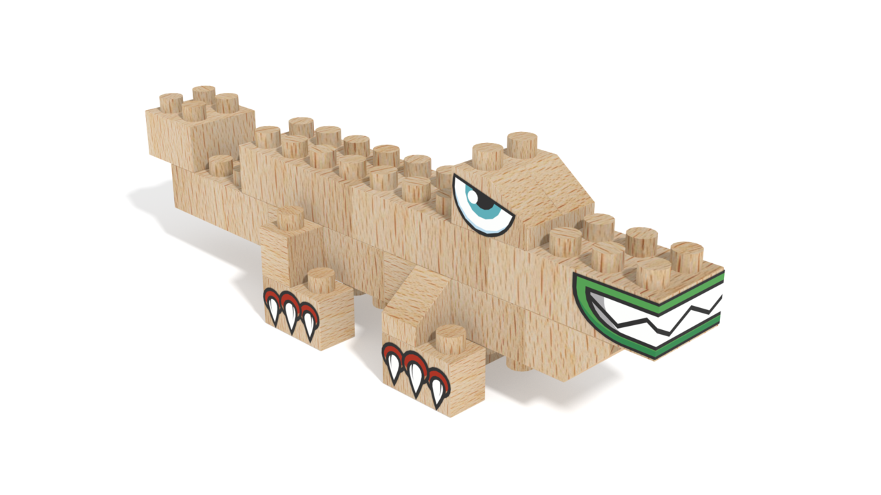 Image for FabBRIX Dino Park, Crockodile in 3D building instructions