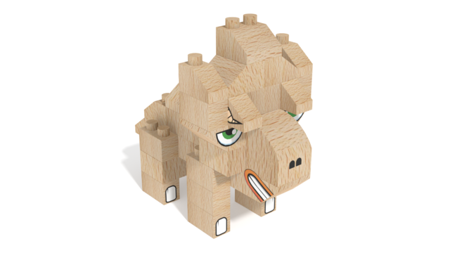 Image for FabBRIX Dinosaurs, Triceratops in 3D building instructions