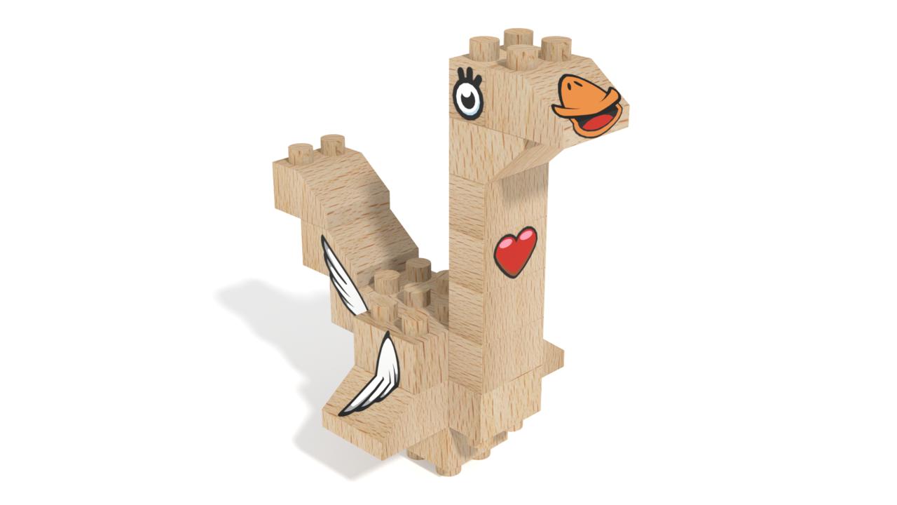 Image for FabBRIX Birds, Bird 1 in 3D building instructions
