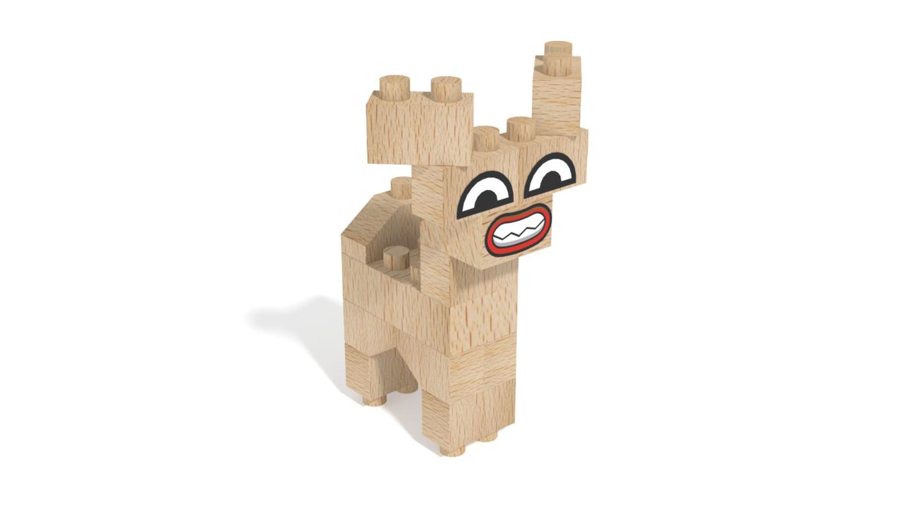 Image for FabBRIX Fantasy Friends, Deer Friend in 3D building instructions
