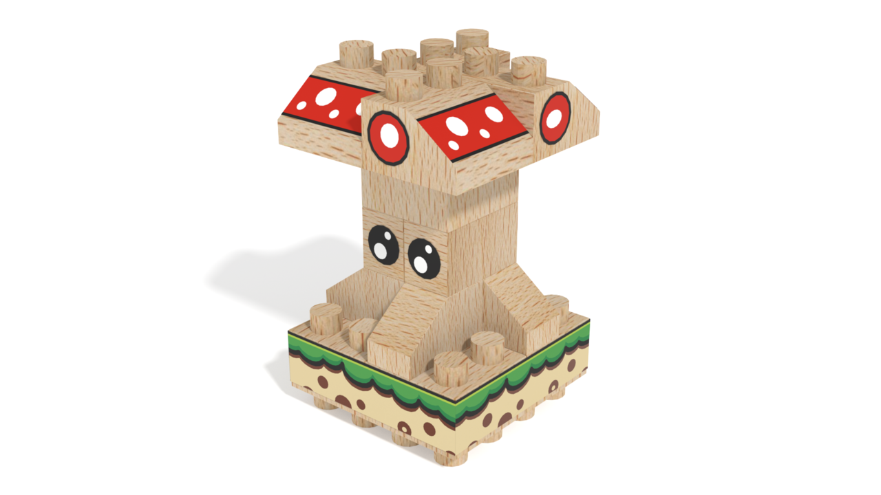 Image for FabBRIX Fairy, Mushroom Fairy in 3D building instructions
