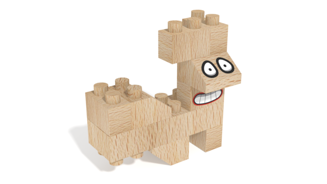 Image for FabBRIX Fantasy Friends, Squirrel Friend in 3D building instructions