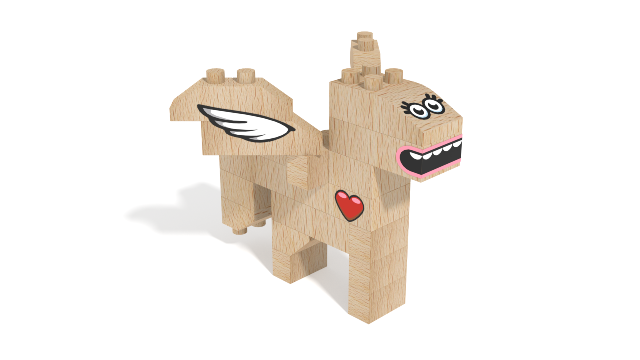Image for FabBRIX Fantasy Friends, Pegasus Friend in 3D building instructions