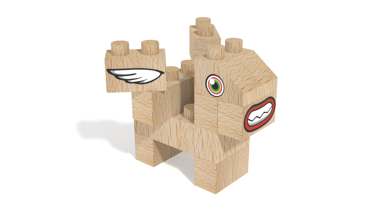 Image for FabBRIX Fantasy Friends, Baby Pegasus Friend in 3D building instructions