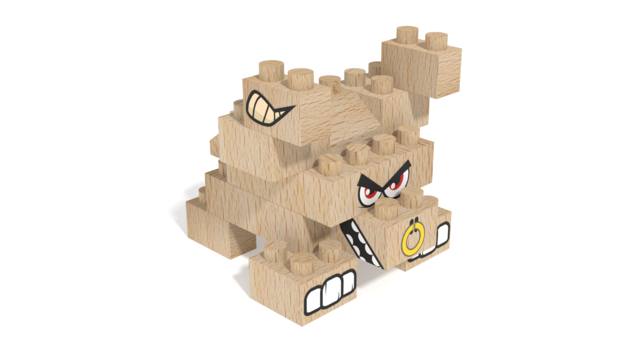 Image of FabBRIX Farm Animals, Bull in 3D building instructions