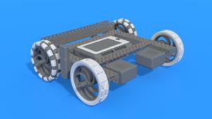 Image Description of Drive Base For VEX V5 Claw bot
