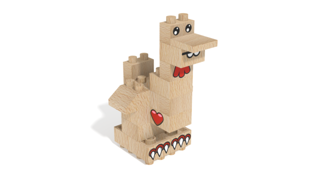 Image for FabBRIX Farm Animals, Hen in 3D building instructions