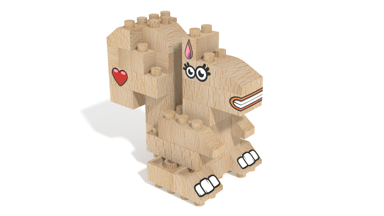 Image for FabBRIX Forest Friends, Squirrel in 3D building instructions