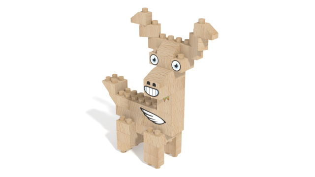 Image for FabBRIX Forest Friends, Deer in 3D building instructions