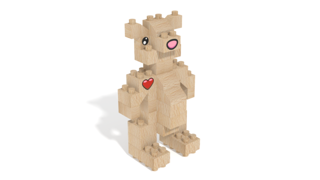 Image for FabBRIX Forest Friends, Bear in 3D building instructions