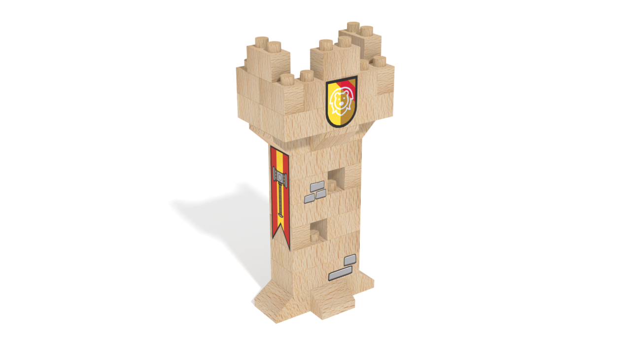 Image for FabBRIX Kingdom, Tower in 3D building instructions